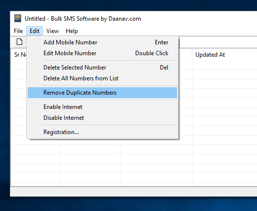 Manage Mobile Numbers List within Bulk SMS Software for Windows
